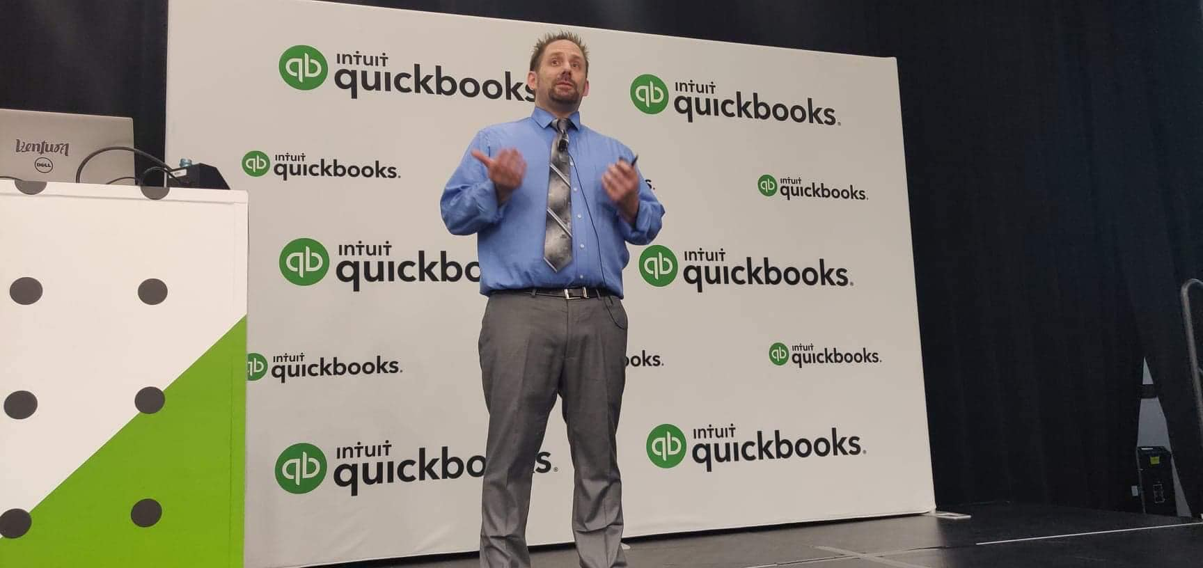 Matthew Fulton teaching at QuickBooks Connect 2019
