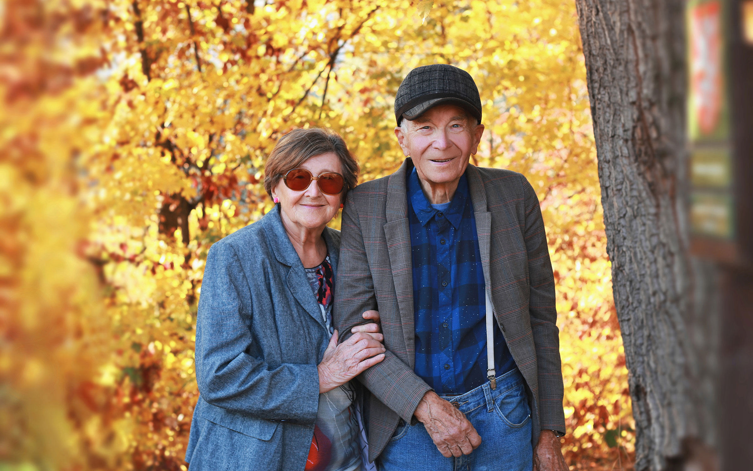 senior couple in autumn