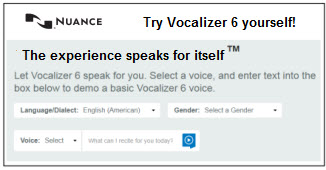 Nuance -Try Vocalizer 6 yourself