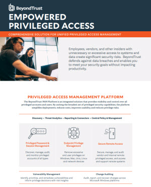 Empowered Privileged Access Datasheet
