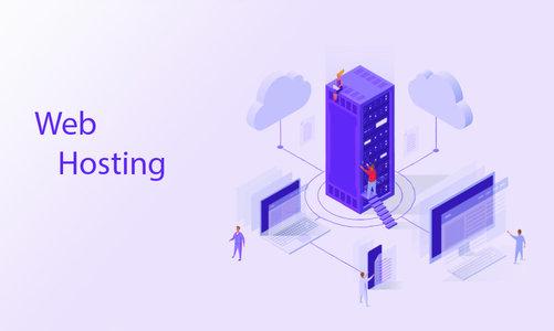 Landing page for Web Hosting