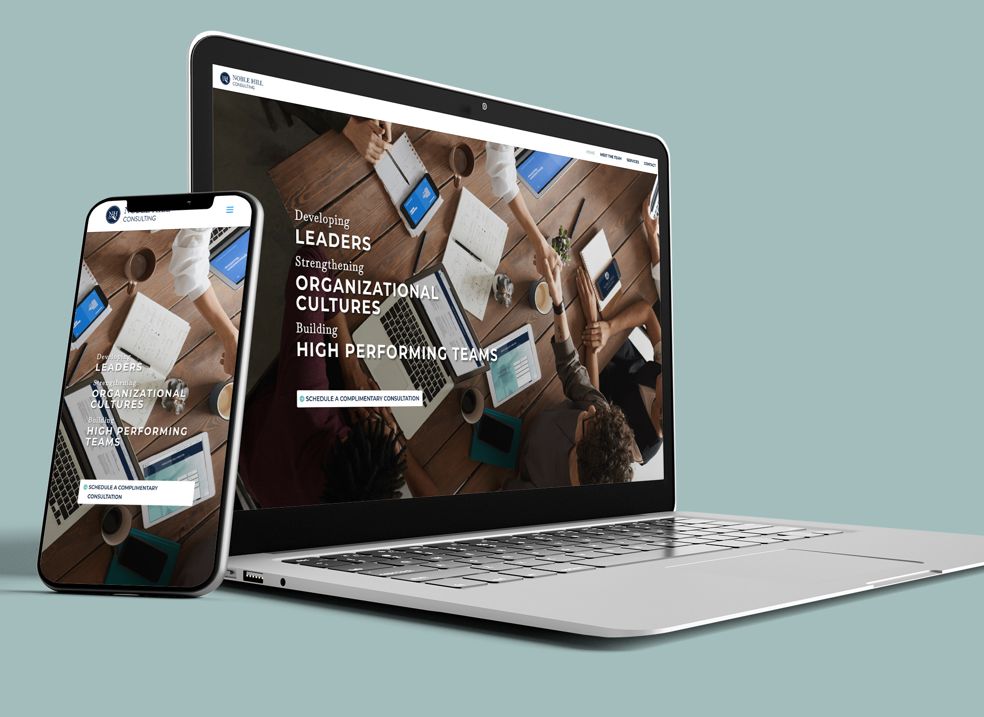 Noble Hill Consulting Website Mockup