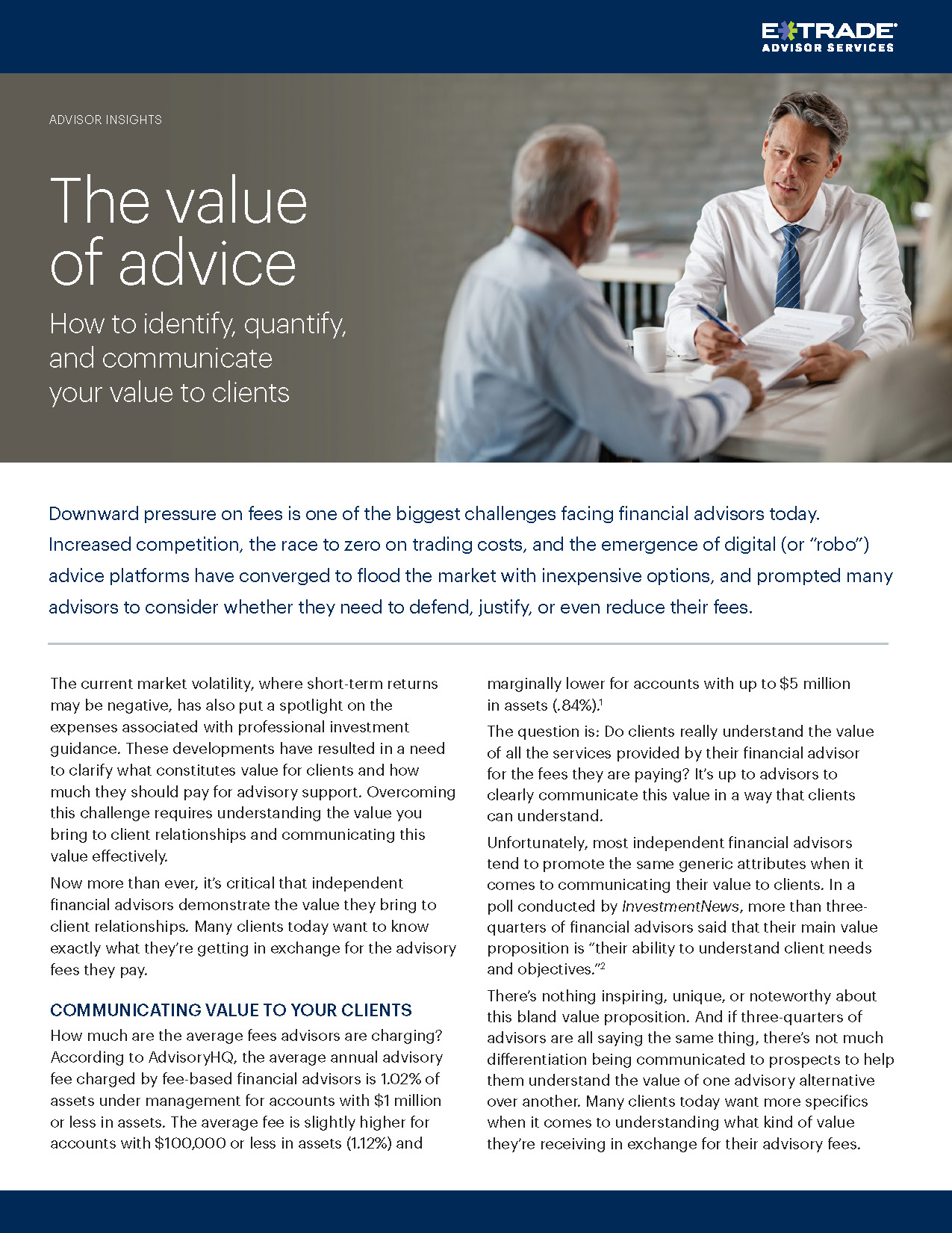 The Value of Advice