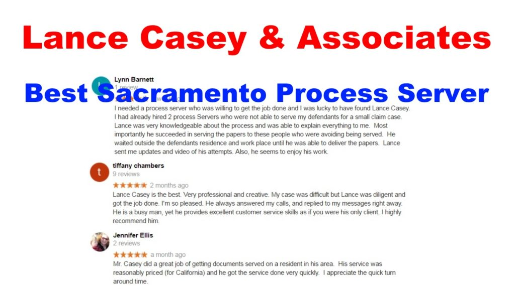 Process Server Sacramento CA 95660
