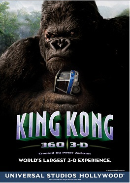 KING KONG 360 3D POSTER UNIVERSAL HOLLYWOOD
