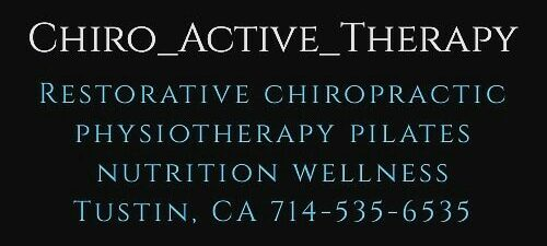 Restorative chiropractic physiotherapy Pilates nutrition wellness Tustin CA 92780