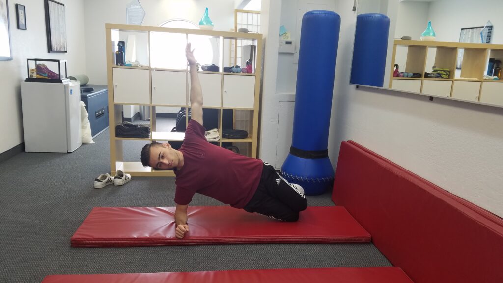 Side bridge for core strength
