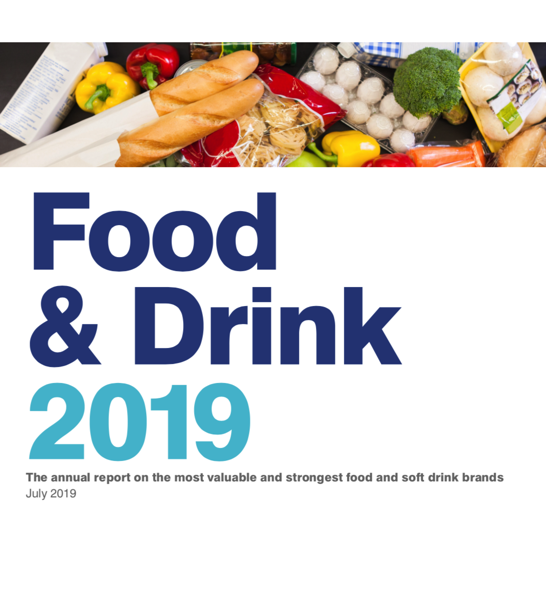 2019 food and drink Top 100 (Brand Finance)