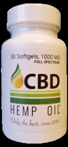 CBD Hemp Oil Dayton softgel capsules 1,000 mg