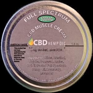 CBD Oil of Dayton Muscle Cream 500 mg CBD