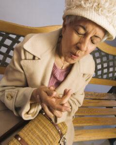 woman with wrist pain arthritis
