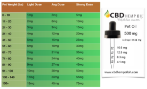 cbd oil dayton pet oil dosing