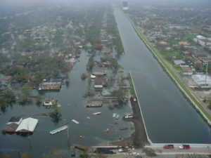 image of 17th canal after Katrina