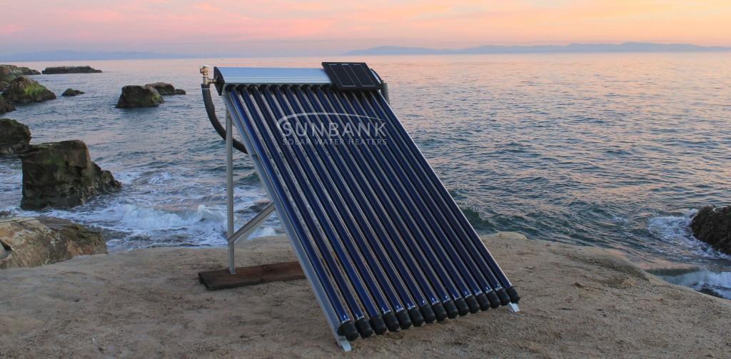 the evacuated tube solar hot tub kit on the coast in santa cruz california