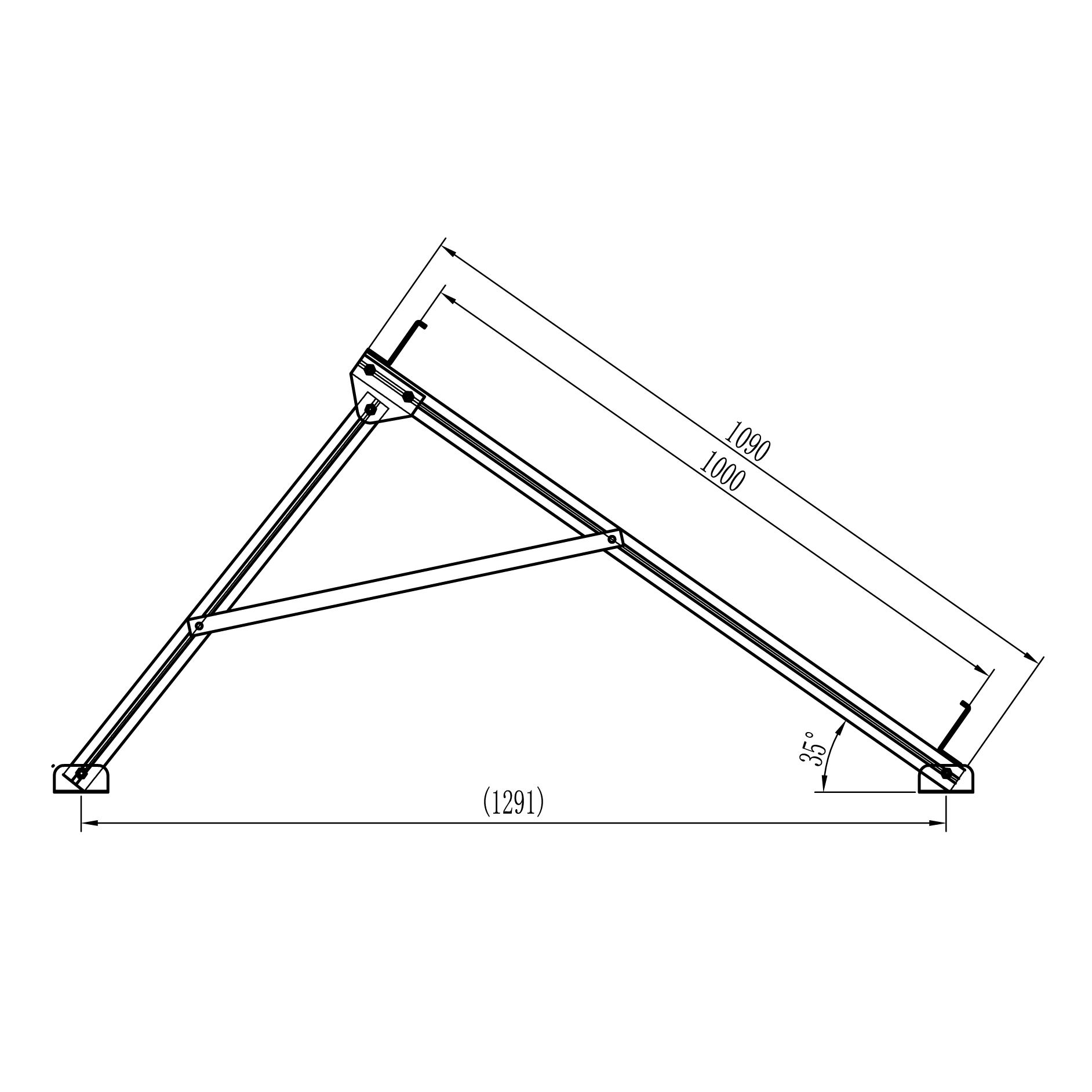 frame diagram for flat plate collector