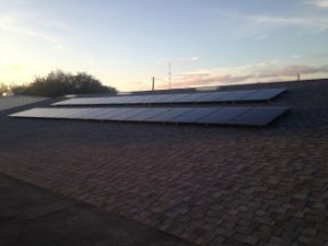 Solar panel ac and heat system