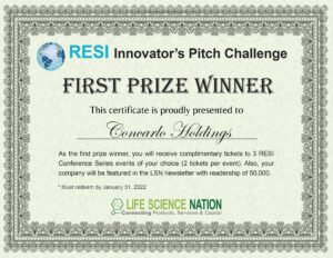 RESI Certificate 1st Prize (Concarlo Holdings)
