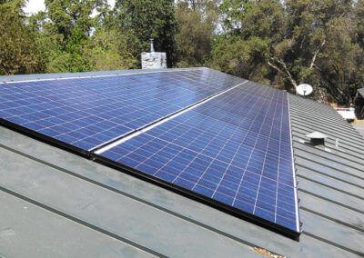 6.5kW standing seam roof mount solar Newcastle CA