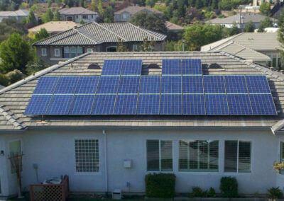 6.5kW tile roof mount solar Rocklin, CA