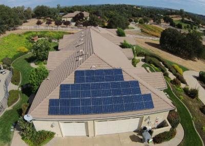 6kW portion of 15kW multi roof solar in Loomis, CA