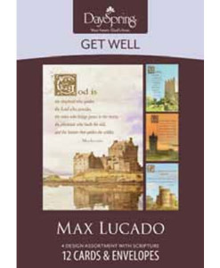 Get Well | Max Lucado | Healing Touch | 12 Boxed Cards