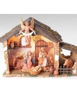 "Fontanini® 5"" Collection 6 piece Figure Set with Lighted Stable"