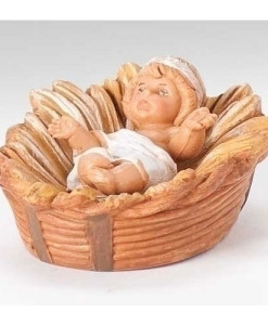 "Fontanini® 5"" Collection Centennial Baby Jesus with Manger Figure"