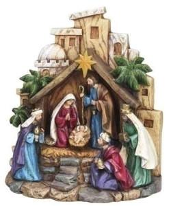 LED Nativity Scene w/Lighted Star