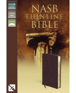 NASB - Thinline Bible   Bonded Leather, Burgundy