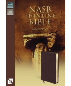 NASB - Thinline Bible   Large Print   Bonded Leather, Burgundy - Red Letter Edition