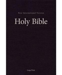 NIV Pew and Worship Bible Comfort Print   Large Print   Hardcover