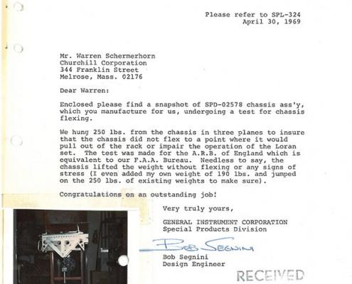 Letter - General Instrument