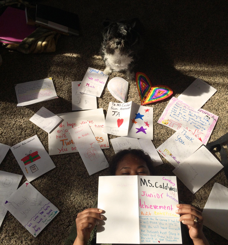 Junior Achievement thank you letters
