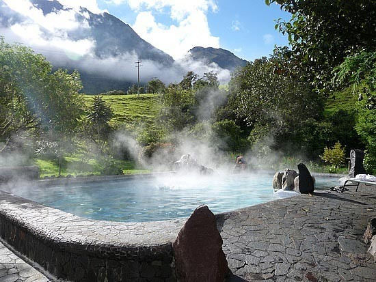 Enjoy relaxing at Papallacta hot springs in their themal pools.