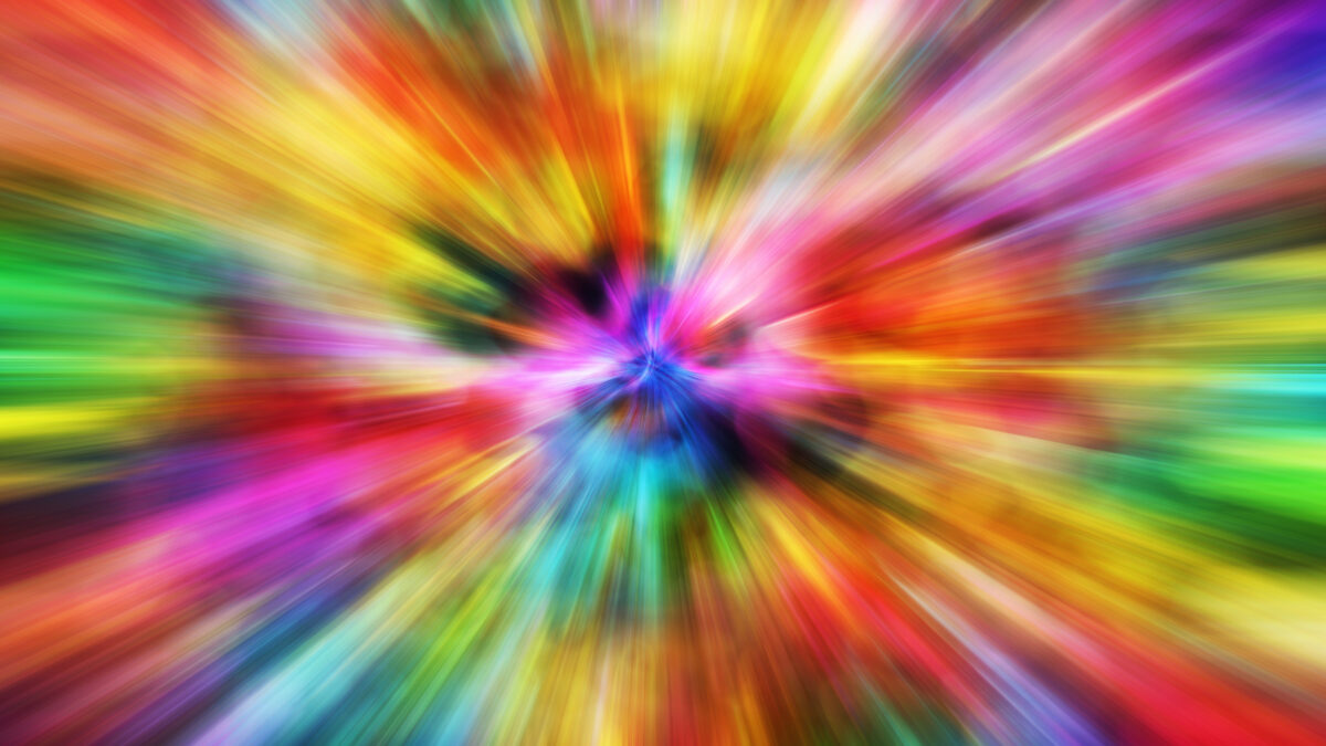 Colorful Motion Blur Background. Multi-Color Speeding Effect. Abstract Backgrounds Collection.