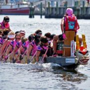 pink dragon boat
