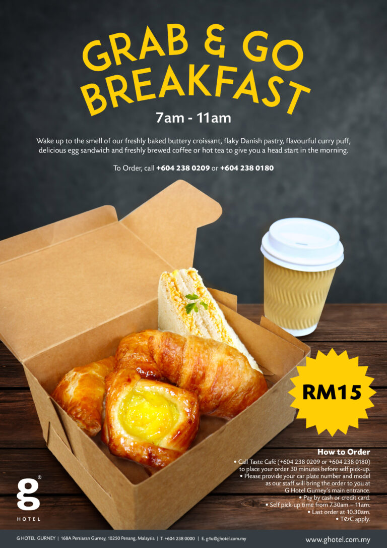 Grab & Go Breakfast Takeaway – G Hotel Gurney