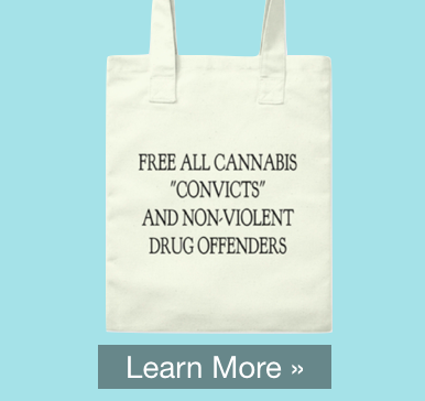 """Plain Jane Tote Bag - """"Free All Cannabis 'Convicts' and Non-Violent Drug Offenders"""""""