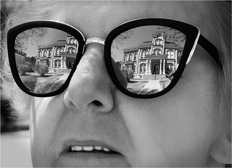 Bill Brown - Looking At The Courthouse - B IOM BW
