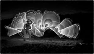 Paula Greco - Light Painting In Black And White - B IOM BW