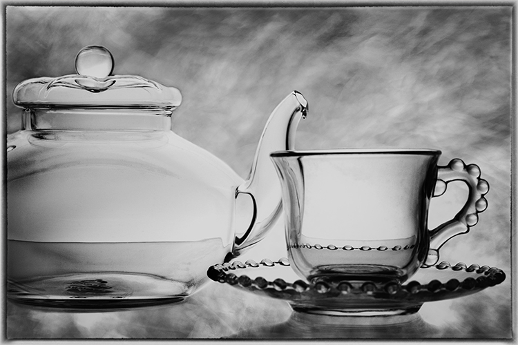 Valerie Interligi- Glass Teapot And Cup