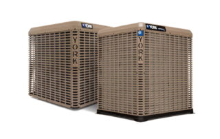 YORK AC units on white background.