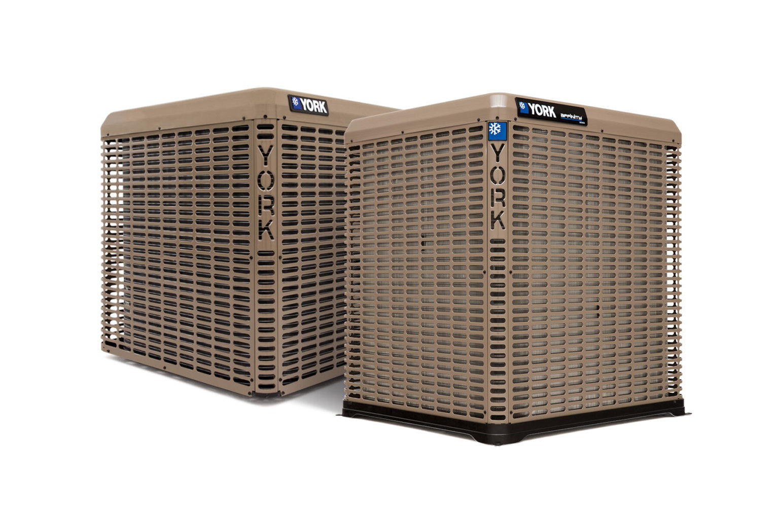 YORK AC units on white background.