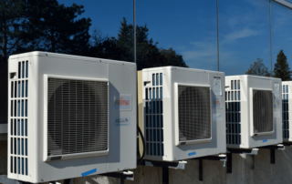 4 HVAC units outside
