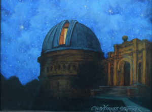 Yerkes Observatory Painting at Night