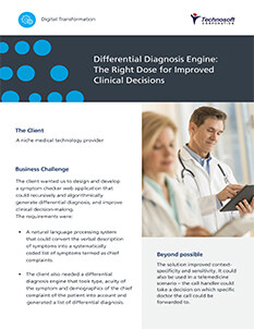 Differential Diagnosis Engine for Medical Technology Provider