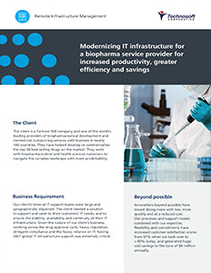 Modernizing IT Infrastructure for a Biopharma Service Provider