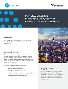 Predictive Analytics to Improve Service Levels Provided by Telecom Company