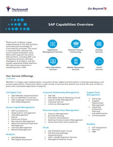 SAP Capabilities Overview