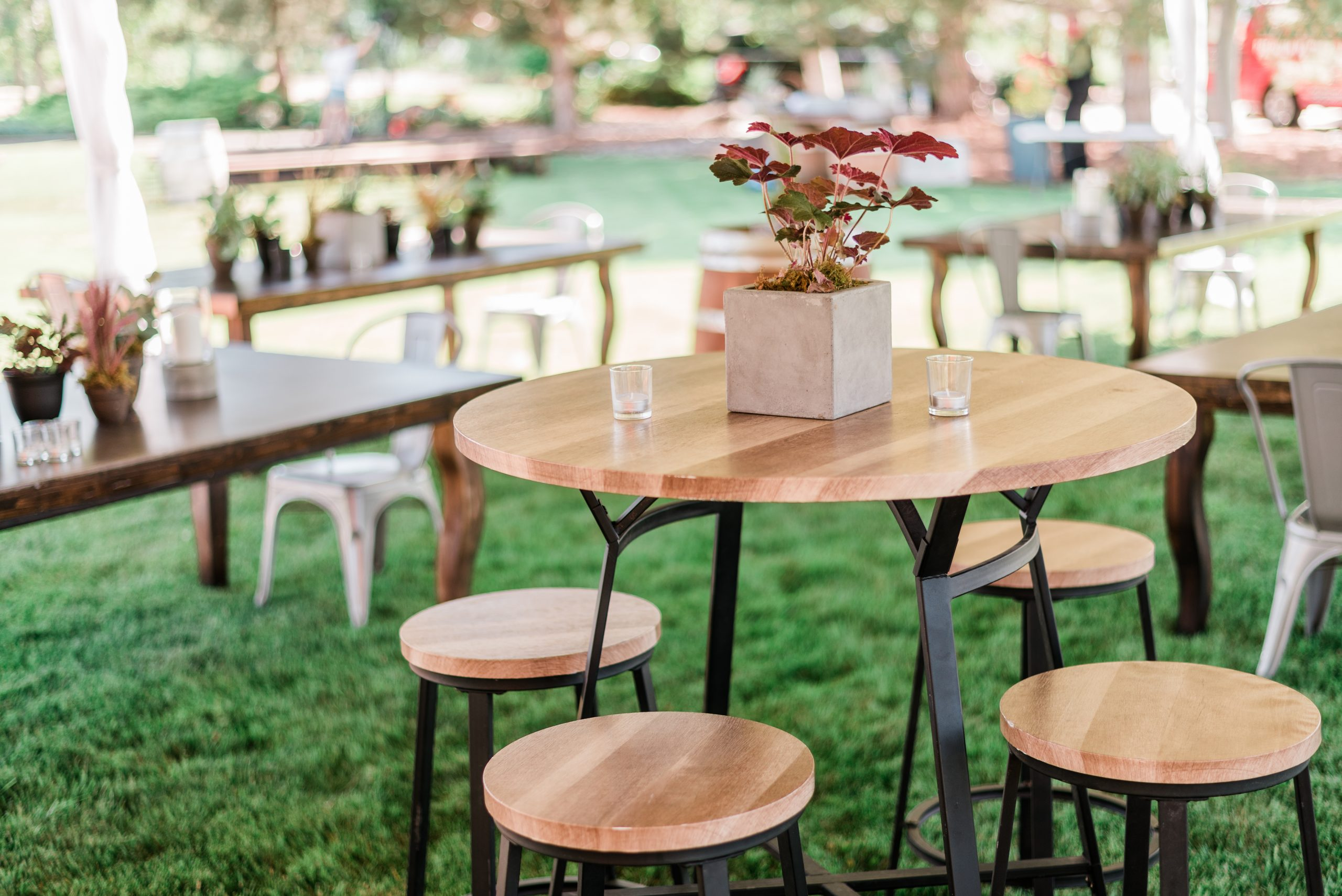 Tables and chair rentals from Elite Events